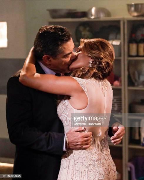 "May I Have This Dance?"" Episode 108 -- Pictured: Carlos Gomez as Rafael Garcia, Lisa Vidal as Mari Garcia --"