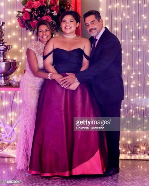 BEAUTY May I Have This Dance Episode 108 Pictured Lisa Vidal as Mari Garcia Belissa Escobedo as Natalie Garcia Carlos Gomez as Rafael Garcia