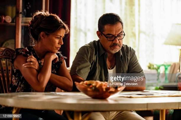 "May I Have This Dance?"" Episode 108 -- Pictured: Lisa Vidal as Mari Garcia, Carlos Gomez as Rafael Garcia --"