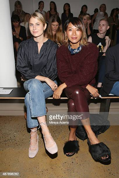 May Kwok attends the Dion Lee fashion show during Spring 2016 MADE Fashion Week at Milk Studios on September 12 2015 in New York City