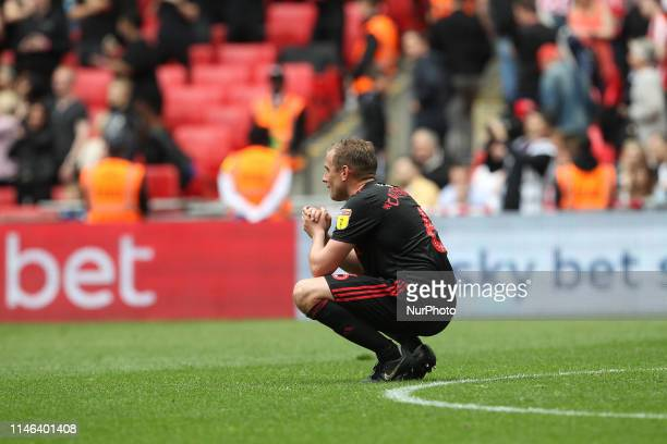 May Lee Cattermole after the final whistle of the Sky Bet League 1 Play Off Final between Sunderland and Charlton Athletic at Wembley Stadium London...