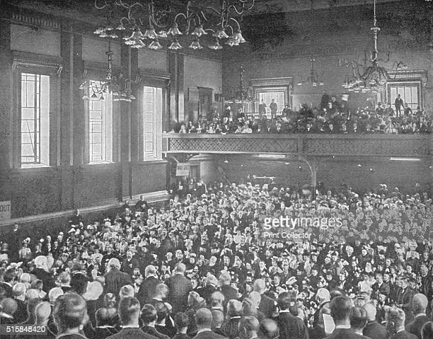 A May meeting Exeter Hall London circa 1903 Exeter Hall on the north side of the Strand London was formerly part of Exeter House the London residence...