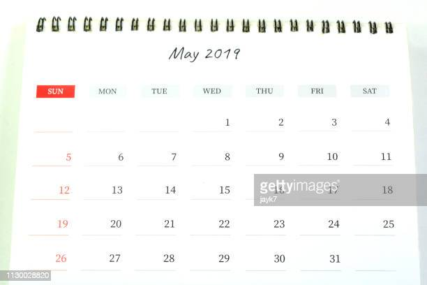 may month calendar - mois de mai photos et images de collection