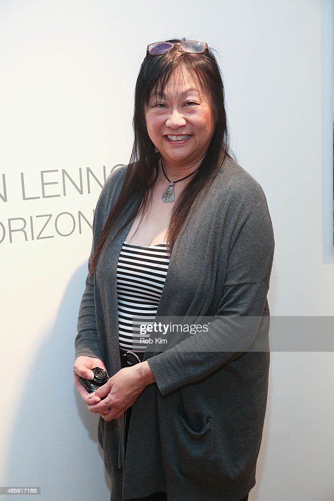 May Pang attends Julian Lennon's 'Horizon' Exhibition Opening at Emmanuel Fremin Gallery on March 11, 2015 in New York City.
