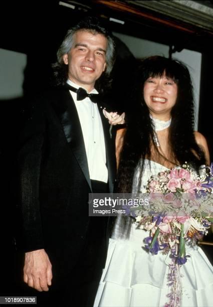 May Pang Wedding marrying record producer Tony Visconti circa 1989 in New York.