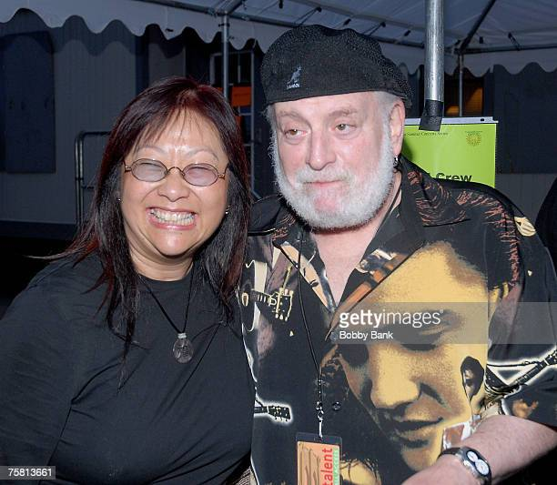May Pang with Howard Kaylan of The Turtles backstage at Hippiefest 2007 at Assey Levy Park Brooklyn New York July 26 2007