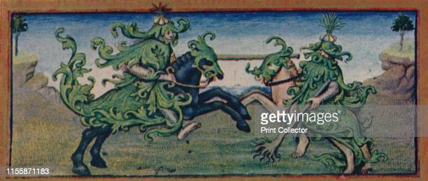 May wild men jousting 15th century The leafy foliage coves the battling knights' bodies like armour and forms the horses' headstalls and caparisons...