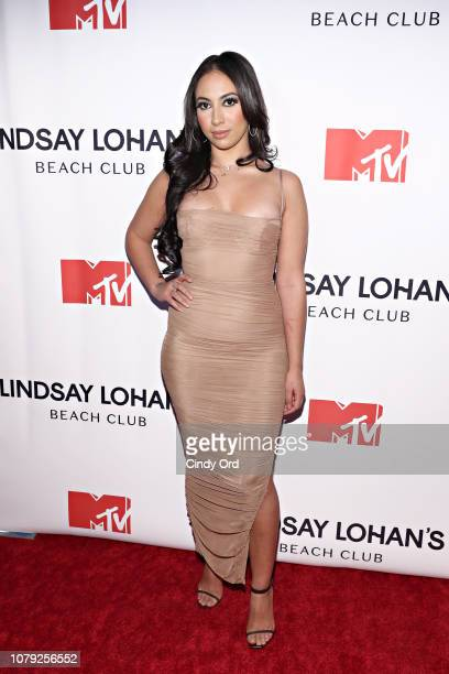 May Yassine attends MTV's 'Lindsay Lohan's Beach Club' Premiere Party at Moxy Times Square on January 7 2019 in New York City