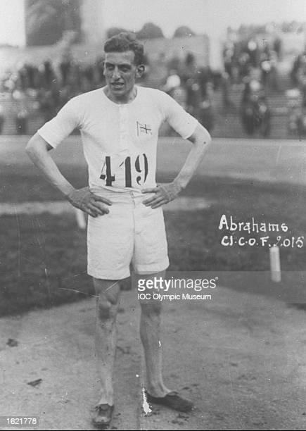Harold Abrahams rests between events during the 1924 Olympic Games in Paris Abrahams won the gold medal in the 100 metres in a time of 106 seconds...