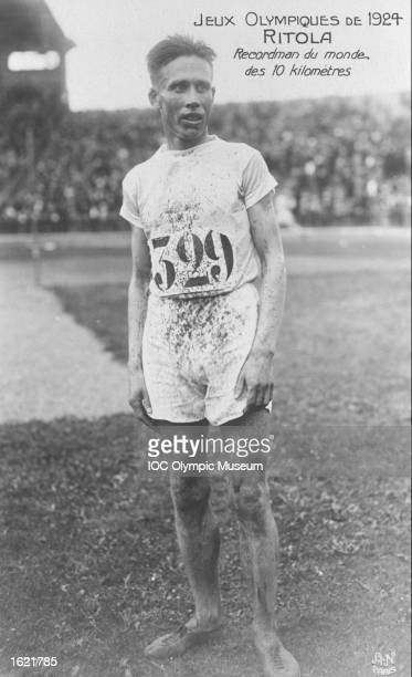 Vilho Ritola of Finland World Record holder in the 10000 metres event rests between events during the 1924 Olympic Games in Paris Ritola won gold...