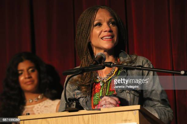 Maya Angelou Presidential Chair Wake Forrest University Melissa HarrisPerry speaks onstage at the Fifth Annual Girls Write Now Awards at City Winery...