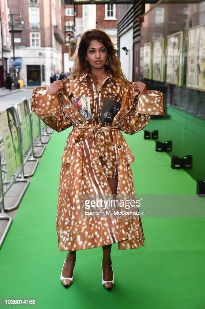 Maya Arulpragasam attends the UK Premeire of 'MATANGI / MAYA / MIA' at The Curzon Mayfair on September 19 2018 in London England
