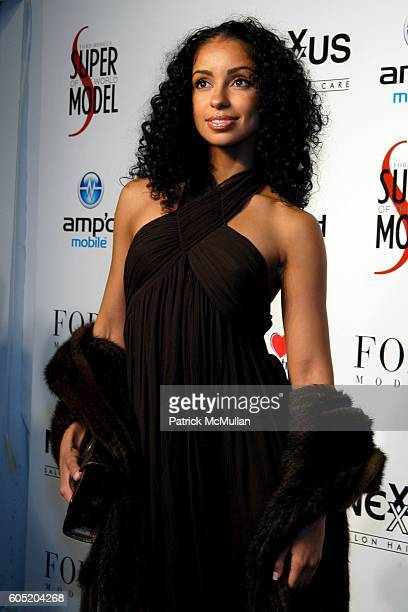 Maya attends Ford Models Presents The 2005 Ford Supermodel of the World Runway Show and Finale at Sky Light Studios on January 18 2006 in New York...