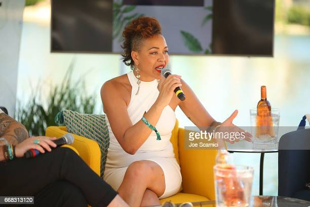 Maya Azucena attends the KALEIDOSCOPE LAWN TALKS presented by Delta Air Lines Cannabinoid Water on April 13 2017 in La Quinta California