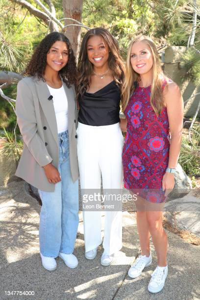 Maya Brady, Gabby Thomas and Shelby Rogers attend The Annual espnW: Women + Sports Summit Day 3 at The Lodge at Torrey Pines on October 20, 2021 in...