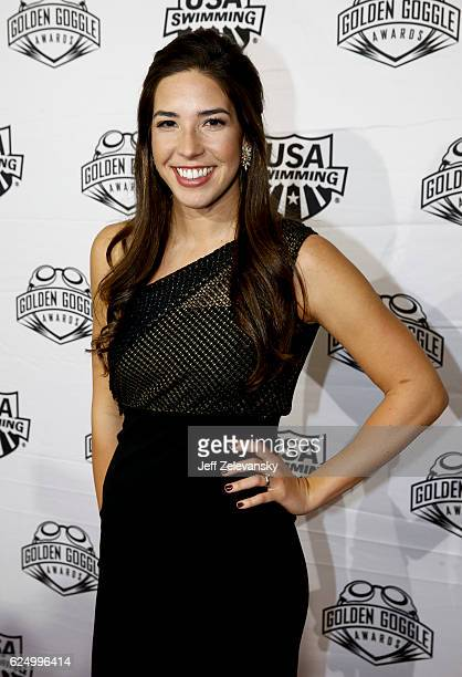 Maya DiRado arrives to the 2016 Golden Goggles Awards at the Marriott Marquis Hotel on November 21 2016 in New York City