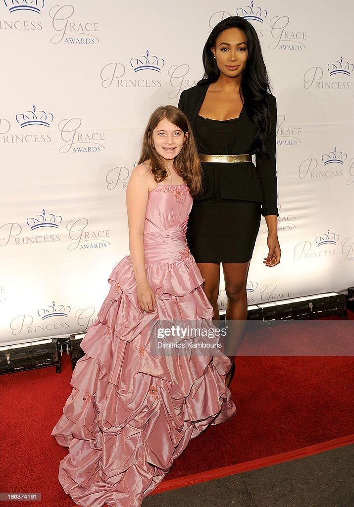 Maya Eisenberg and Miss USA 2012 Nana Meriwether attend the 2013 Princess Grace Awards Gala at Cipriani 42nd Street on October 30, 2013 in New York City.