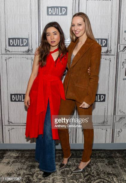 Maya Erskine and Anna Konkle pose for photos before discussing their television series PEN15 at Build Studio on February 07 2019 in New York City
