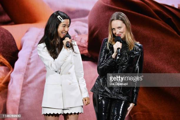 Maya Erskine and Anna Konkle speak onstage during the Hulu '19 Presentation at Hulu Theater at MSG on May 01 2019 in New York City