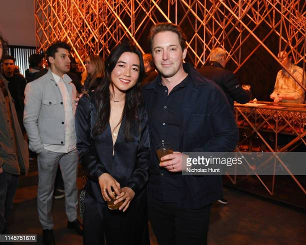 Maya Erskine and Beck Bennett attend the 2019 Tribeca Film Festival AfterParty for Plus One hosted by Bulleit Bourbon at the Bulleit 3D Printed at...