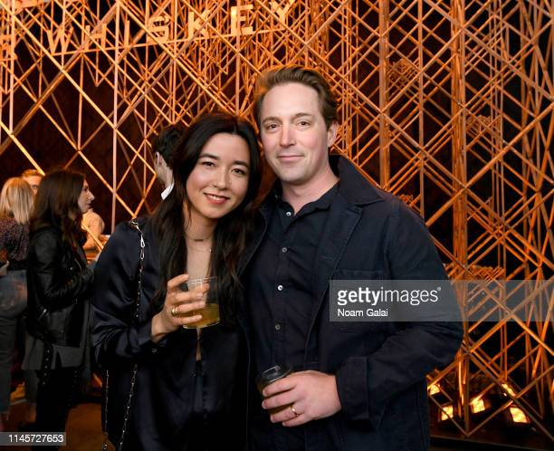 Maya Erskine and Beck Bennett attend the Plus One Premiere After Party at the Bulleit 3D printed Frontier Lounge during Tribeca Film Festival on...