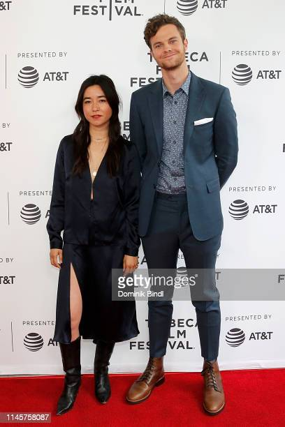 Maya Erskine and Jack Quaid attend the Plus One screening 2019 Tribeca Film Festival at SVA Theater on April 28 2019 in New York City