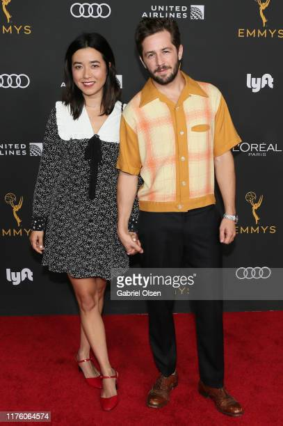 Maya Erskine and Michael Angarano arrive for the Television Academy Honors Emmy Nominated Performers at Wallis Annenberg Center for the Performing...