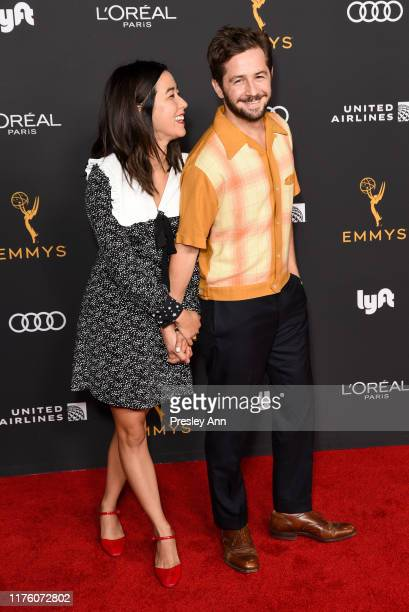 Maya Erskine and Michael Angarano attend the Television Academy honors Emmy nominated performers at Wallis Annenberg Center for the Performing Arts...