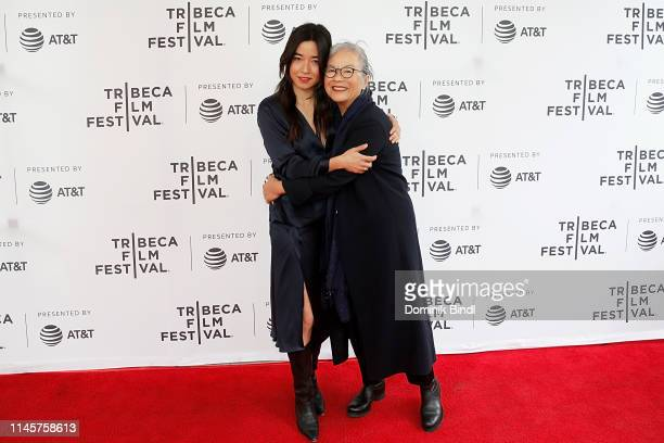 Maya Erskine and Mutsy Erskine attend the Plus One screening 2019 Tribeca Film Festival at SVA Theater on April 28 2019 in New York City