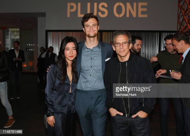 Maya Erskine Jack Quaid and Ben Stiller attend the 2019 Tribeca Film Festival AfterParty for Plus One hosted by Bulleit Bourbon at the Bulleit 3D...