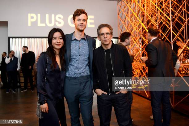 Maya Erskine Jack Quaid and Ben Stiller attend the Plus One Premiere After Party at the Bulleit 3D printed Frontier Lounge during Tribeca Film...