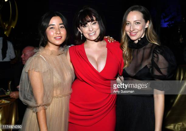 Maya Erskine Rachel Bloom and Anna Konkle attend the Governors Ball during the 2019 Creative Arts Emmy Awards on September 15 2019 in Los Angeles...