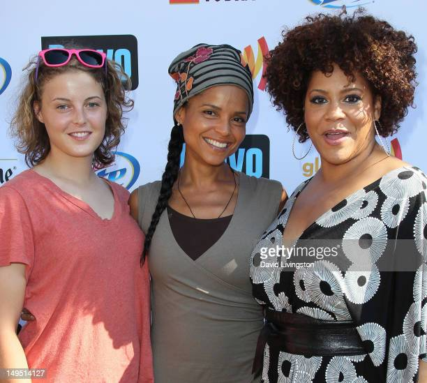 Maya Fahey her mother actress Victoria Rowell and actress Kim Coles attend GLAAD's Bravo Top Chef Invasion benefit event at a private residence on...