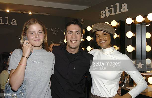 Maya Fahey Matthew Aguilar and Victoria Raoul at Stila