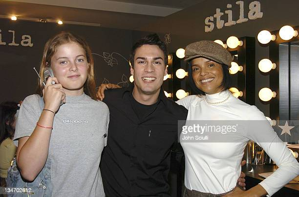 Maya Fahey Matthew Aguilar and Victoria Rowell at Stila