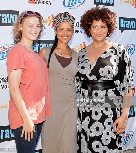 Maya Fahey Victoria Rowell and Kim Coles attend GLAAD's 'Bravo Top Chef Invasion' benefit event at a private residence on July 29 2012 in Los Angeles...