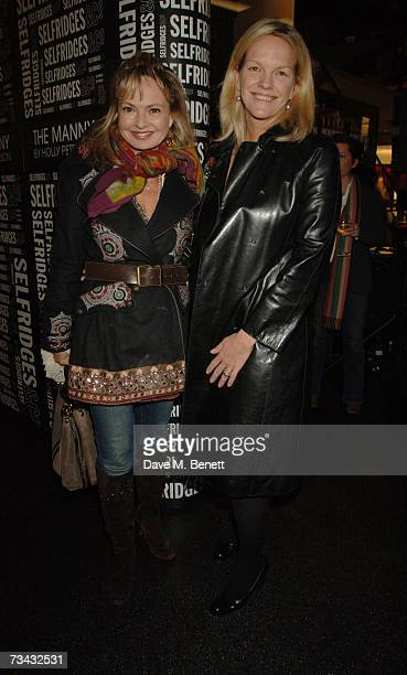 Maya Flick and Elizabeth Murdoch arrive at the Holly Peterson's 'The Manny' Book launch party held at Selfridges on February 26 2007 in London England