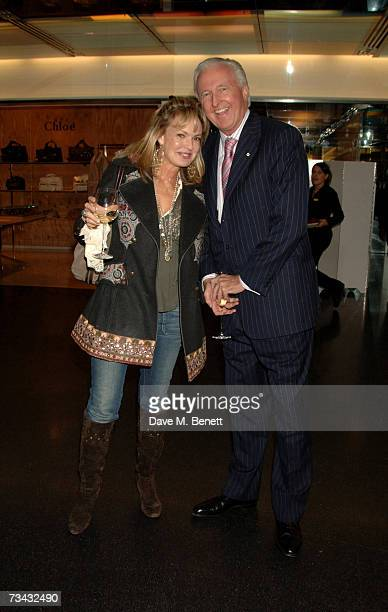 Maya Flick and Galen Weston arrive at the Holly Peterson's 'The Manny' Book launch party held at Selfridges on February 26 2007 in London England