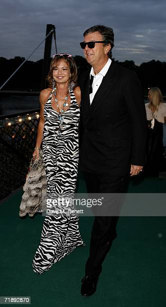 Maya Flick and her partner attend the Party Belle Epoque hosted by The Royal Parks Foundation and champagne brand PerrierJouet at the Lido Lawns in...