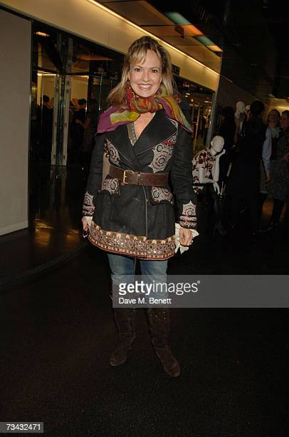 Maya Flick arrive at the Holly Peterson's 'The Manny' Book launch party held at Selfridges on February 26 2007 in London England