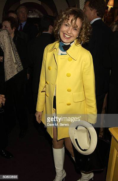 Maya Flick attends a party celebrating the launch of US Vogue journalist Plum Sykes' debut novel Bergdorf Blondes at Annabel's May 4 2004 in London...