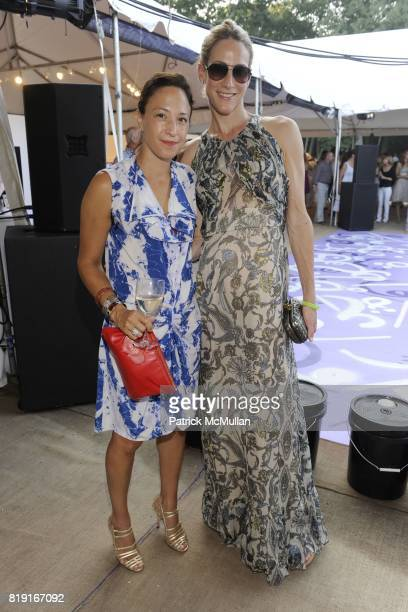 Maya Frey and Amanda Fuhrman attend Paradiso The 17th Annual Watermill Summer Benefit 2010 at Watermill Center on July 24 2010 in Water Mill NY