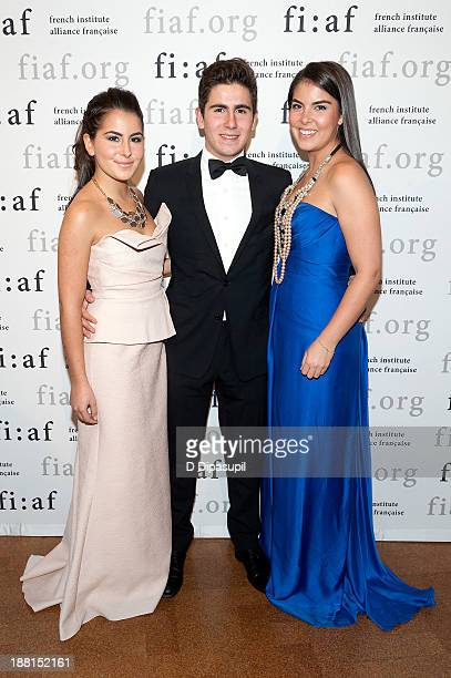 Maya Ghosn Anthony Ghosn and Caroline Ghosn attend the 2013 Trophee Des Arts gala on November 15 2013 in New York City