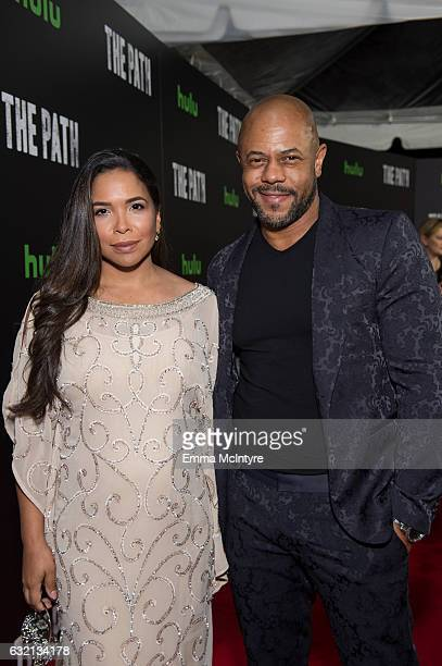 Maya Gilbert and actor Rockmond Dunbar attends the premiere of Hulu's 'The Path' Season 2 at Sundance Sunset Cinema on January 19 2017 in Los Angeles...