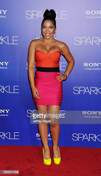 Maya Gilbert arrives for the Los Angeles premiere of Sparkle at Grauman's Chinese Theatre on August 16 2012 in Hollywood California