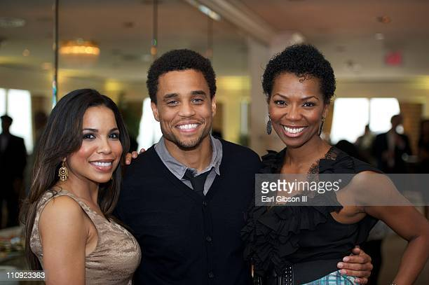 Maya Gilbert Michael Ealy and Vanessa Williams at The Brotherhood/SisterSol Fundraiser at The Beverly Hilton hotel on March 26 2011 in Beverly Hills...