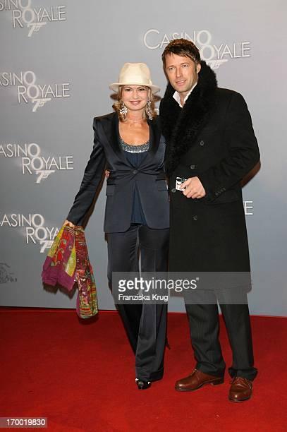 Maya Gräfin Von Schönburg Glauchau And Bruno Eyron In The Germany premiere of Casino Royale in Potsdamer Place Cinestar in Berlin