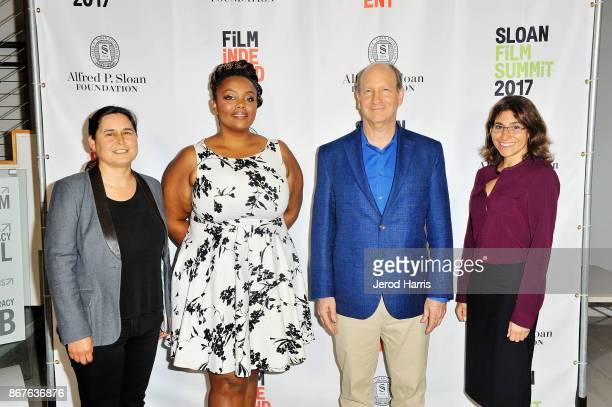 Maya Gupta Christianna Taylor Vice President of the Alfred P Sloan Foundation Doron Weber and Carolyn Giardina attend Sloan Film Summit 2017 Day 2 on...