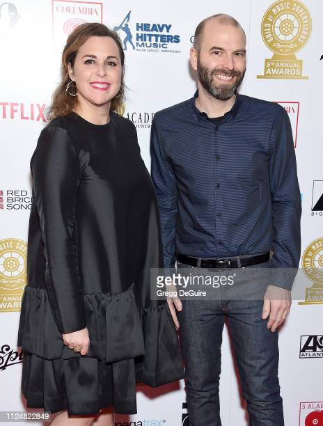 Maya Halfon Cordova and Kyle Hopkins attend the 9th Annual Guild Of Music Supervisors Awards at The Theatre at Ace Hotel on February 13 2019 in Los...