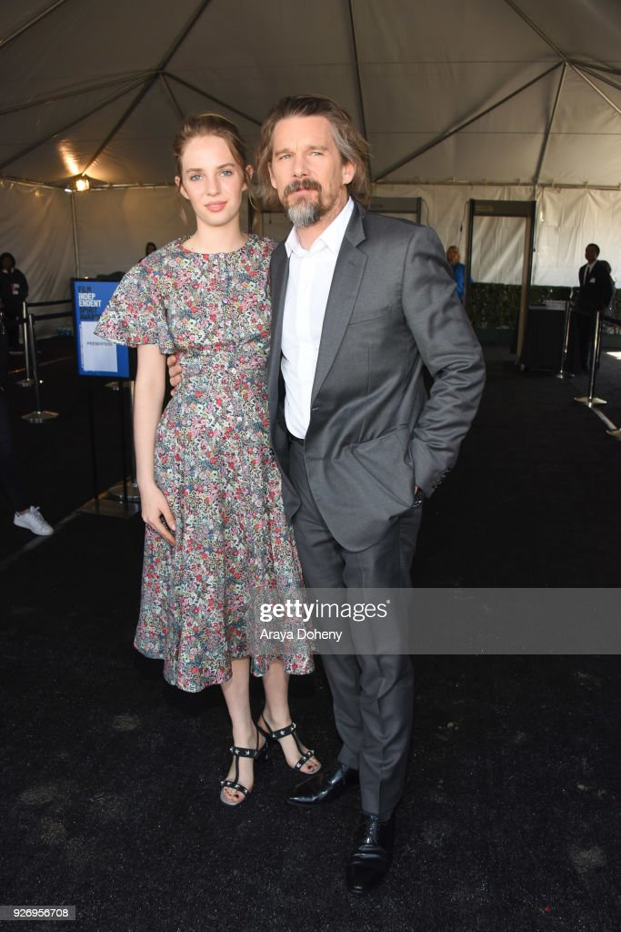 Maya Hawke and Ethan Hawke attend the 2018 Film Independent Spirit Awards on March 3, 2018 in Santa Monica, California.